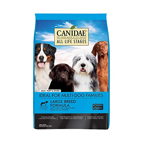 CANIDAE All Life Stages Large Breed Dog Dry Food Turkey Meal & Brown Rice Formula 30lbs