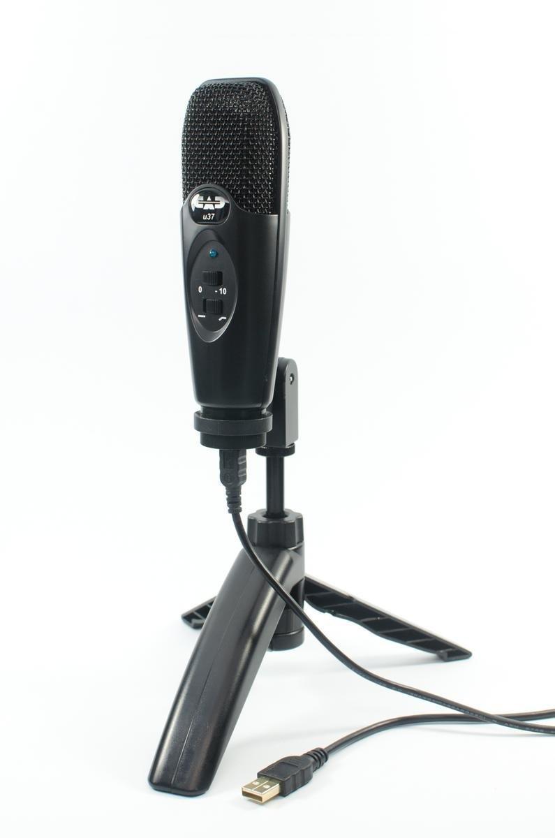 CAD U37 USB Studio Condenser Recording Microphone - Black