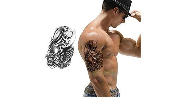 ljmljm 4 Piezas Pegatinas de Tatuaje a Prueba de Agua Robot Brazo ...