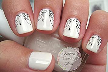 Amazon Spider Web Nail Art Decals Beauty