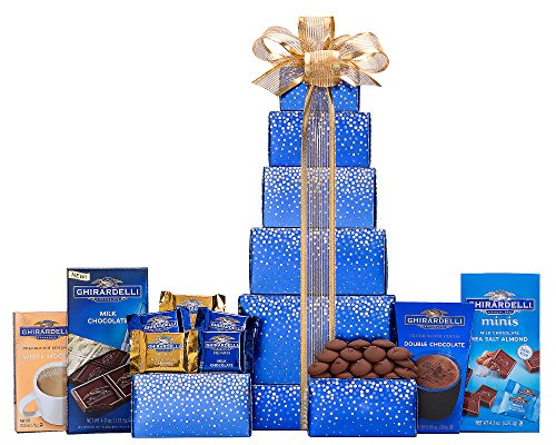 Wine Country Gift Baskets Ghirardelli Milk Chocolate Tower (Thank You Wine Gift Baskets)