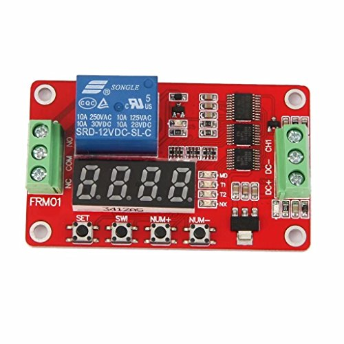 Jahyshow Newer Version 12V Multifunction Relay Cycle Timer Module - Programmable with Customized Settings (Increased to 18 (Ac Current Sensing Coil)