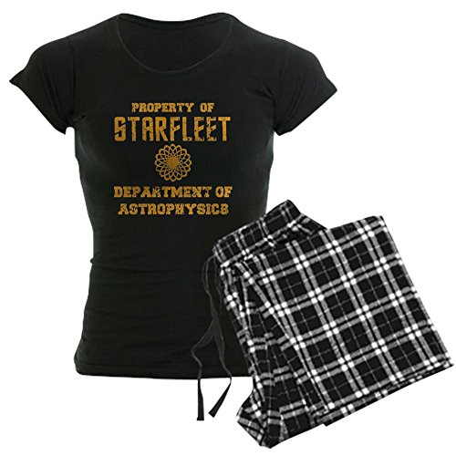 CafePress - Star Trek Dept Of Astrophysics Women's Dark Pajama - Womens Novelty Cotton Pajama Set, Comfortable PJ Sleepwear
