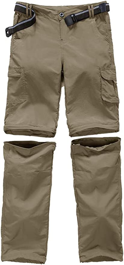 Kids Boys Youth Hiking Casual Quick Dry Shorts Lightweight Cargo Tatical Zipper Pockets Camping Travel Shorts