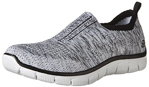 Cheap Skechers Empire Inside Look Womens Slip On Sneakers White/Black 11