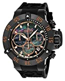 Invicta Men's 'Subaqua' Quartz Metal and Silicone Casual Watch, Color:Black (Model: 22921)