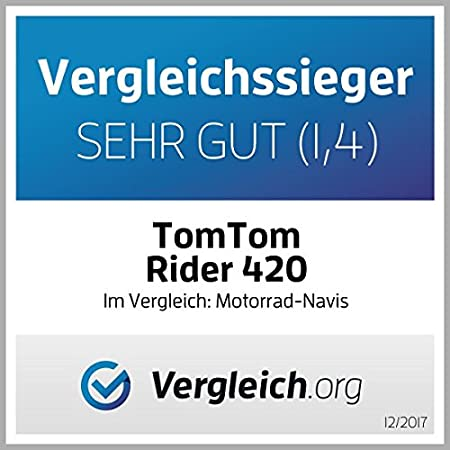 TomTom RIDER 420 Port/átil//Fijo 4.3 Pantalla t/áctil 280g Negro navegador Toda Europa, Rusia, 10,9 cm Navegador GPS , 16 GB 4.3 Flash TransFlash 480 x 272 Pixeles MicroSD - version importada