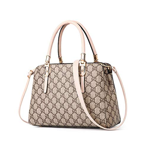 1 Apricot Handbag - Women Designer Crossbody Bag Classic Top Handle Handbag Casual Purse Satchel Tote (Style 1 apricot)