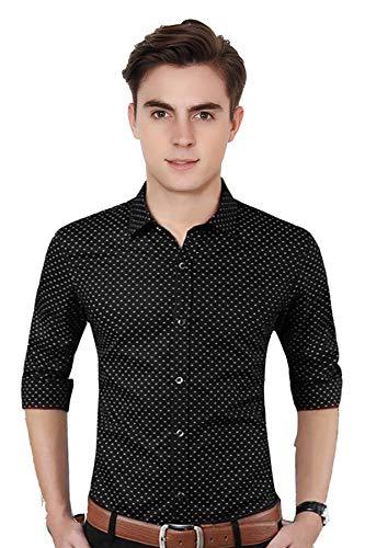Fashlook Polka Print Casual Dotted Shirt for Men