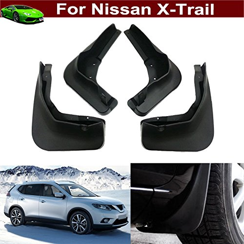 4pcs Front + Rear Car Mud Flaps Splash Guards Protective Fender Mudguards Mudflaps Mud Guards Custom Fit Yilaite