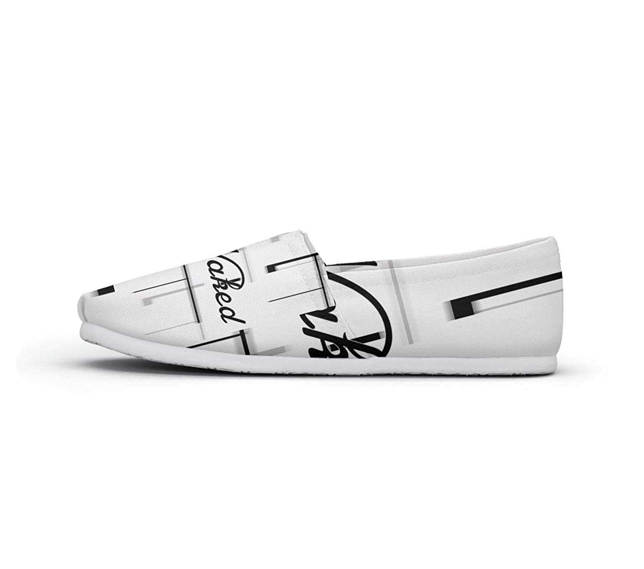nkfbx Black and White get Naked Casual Slip-On Trainers for Women Jogging