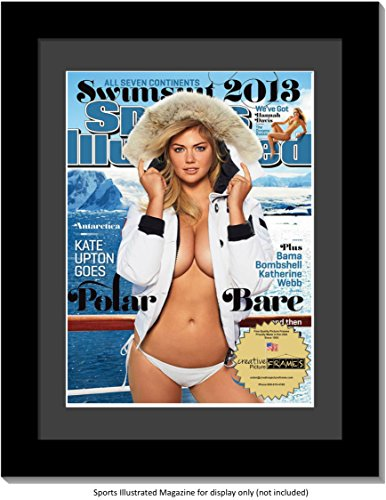 CreativePF [1012bk-b] Collectors Edition Sports Illustrated Frame, Displays 1994-Current Magazines Measuring 8 by 10 1/2-inches w/ Black Matting, Easel Stand and Wall Hanger Included