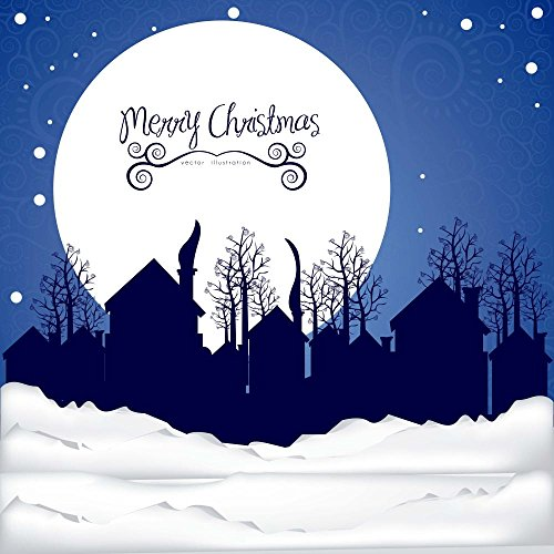 Neighborhood on the Christmas Eve Wall Decal - 24 Inches H x 24 Inches W - Peel and Stick Removable Graphic