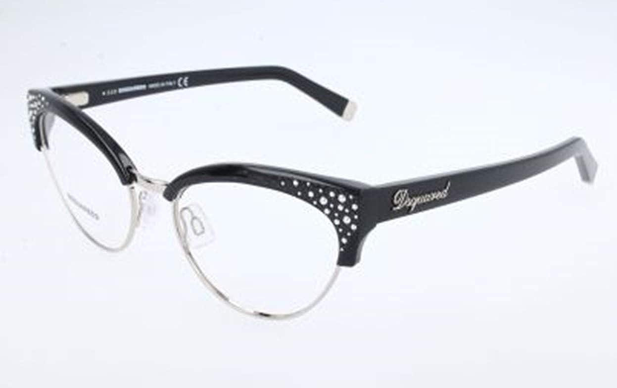 Schwarz 53.0 Donna Nero D-Squared Brillengestelle DQ5064 001-53-17-140 Montature