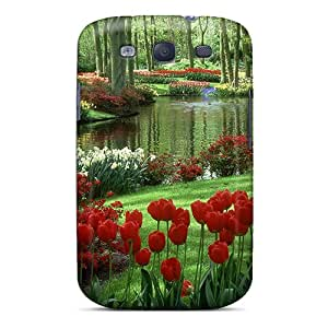 Excellent Galaxy S3 Case Tpu Cover Back Skin Protector Tulips In Park