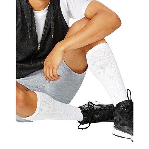 (Hanes Men's Over-the-Calf Tube Socks,White,1 Pack (12 Pairs) Sock:10-13 / Shoe:6-12 )