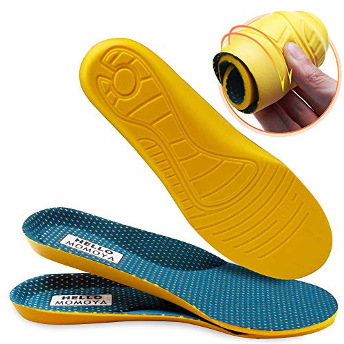 Insoles for Men and Women Plantar Fasciitis Support Inserts High Arch Support Shoe Inserts Men Women Relief Foot Pain Flat Feet