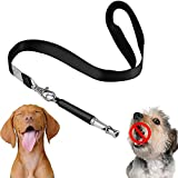 Twin Dogs Dog Whistle to Stop Barking, Adjustable Pitch Ultrasonic training tool, Silent Bark Control, Unlimited Comments with Instruction Manual