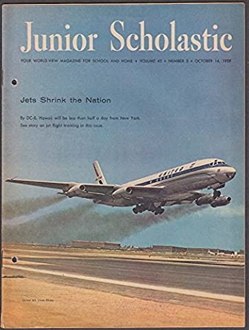 JUNIOR SCHOLASTIC DC-8 Lunik II space flight Haiti Dominican Republic 10/14 1959 (Junior Scholastic)