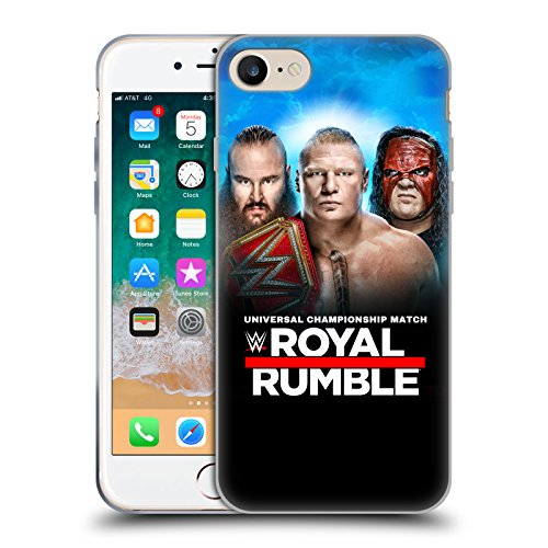 Official WWE Braun, Brock & Kane 2018 Royal Rumble Soft Gel Case for Apple iPhone 7 / iPhone 8