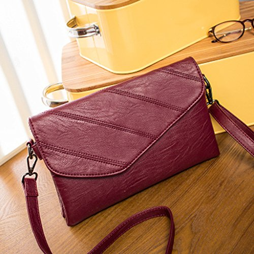 Damen Damen Mädchen Rucksack 2017 Herbst und Winter Mode Tasche Leder Damen Handtasche Damen Paket Köper Packs (24 * 21cm) (rot)