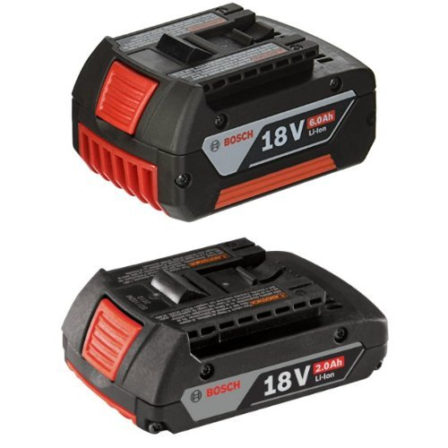 Bosch BAT622 18V Lithium-Ion 6.0 Ah FatPack Battery with 2.0 AH battery