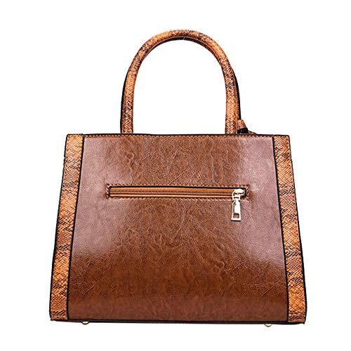 Fashion Shoulder DCRYWRX Handbags Leather Bags Vintage Capacity Handbag Gray Large Shoulder Single Hobo Diagonal Bag Personality PU Handbag 5q1r1wRxt