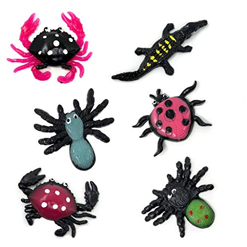 cici store New Halloween Scary Sticky Spider Crab Lizard Toy, Slime Squeeze Gags Joke -