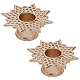 Steel Navel Body Jewelry Pair of Rose Gold Plated Double Flared Supernova Eyelets: 5/8''