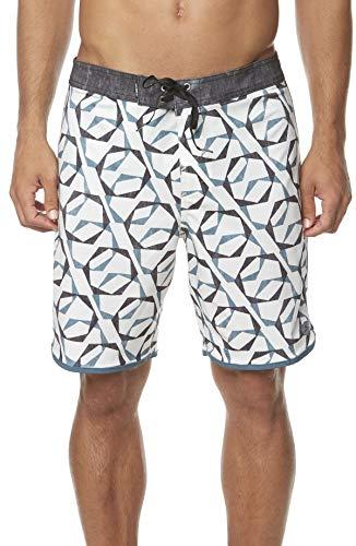O'Neill Men's Water Resistant Hyperfreak Stretch Swim Boardshorts, 19 Inch Outseam (Bone/Link, 38) ()