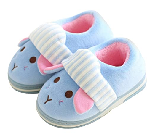 Amazon.com | Cattior Toddler Fur Lined Cute Warm Slipper Shoes ...