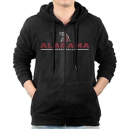 Men's Alabama Crimson Tide Custom Sport Wordmark Full Zip Drawstring Hoodie