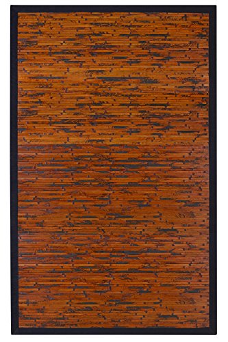 Anji Mountain Cobblestone Area Rug, Mahogany, 6 x 9-Feet