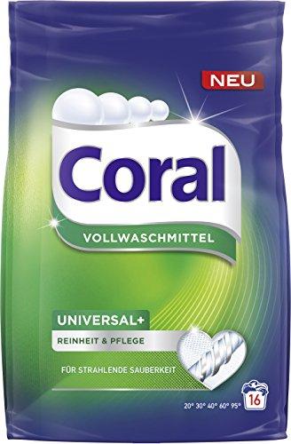 Coral Vollwaschmittel Universal+ Pulver, 16 WL 1er Pack (1 x 1.12 l)