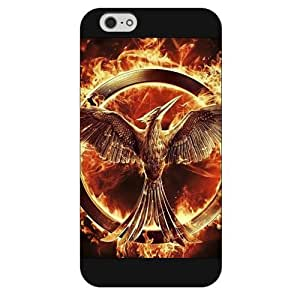 UniqueBox - Customized Black Frosted iPhone 6 5.5 Case, The Hunger Games iPhone 6 Plus case, Only fit iPhone 6+ (5.5 Inch)