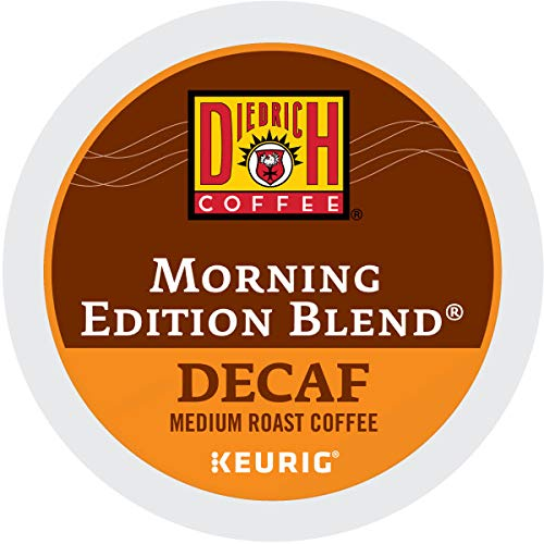 Diedrich, Morning Edition Blend Decaf, Single-Serve Keurig K-Cup Pods, Medium Roast Coffee, 48 Count (2 Boxes of 24 Pods