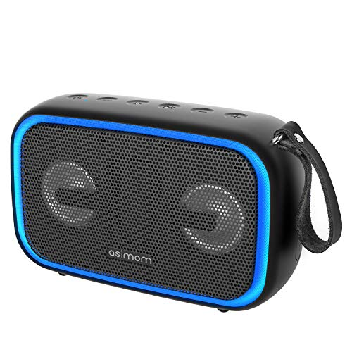 Portable Bluetooth Speaker ASIMOM EX70, Wireless Stereo Pairing, 28W HD Sound with Enhanced Bass, IPX67 Dustproof & Waterproof, Multiple Colors Lights, for Home Party, and Outdoor