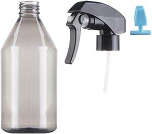 erioctry 300ml 10oz Empty Refillable Potable Plastic Hairdressing Mist Sprayer Water Spray Bottles Garden Plant Watering Pot Can Sprinklers (Grey)
