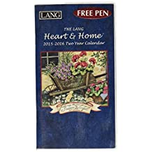 Lang January to December, 3.5 x 6.375 Inches, Perfect Timing Heart and Home 2015/2016 Two Year Calendar by Susan Winget (1071059)