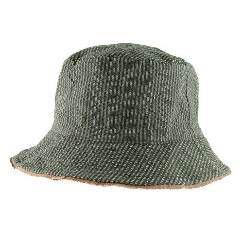 Morehats Men's Women's Unisex Reversible Vintage Stripe Bucket Hat