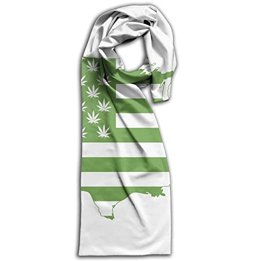 Marijuana Weed USA MAP FLAG Warm Simple Double Side Long Scarf