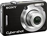 Sony Cybershot DSCW55 7.2MP Digital Camera with 3x Optical Zoom (Black) (OLD MODEL)