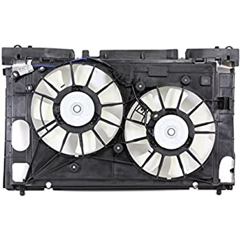 Dual Radiator and Condenser Fan Assembly For//Fit 10-15 Toyota Prius w//Top Shroud