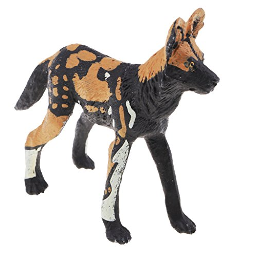 (Baoblaze Wild Animal Toy Animal Realistic Wild Animal Wikinia Deer Statue Kids Toys - African Wild Dog)