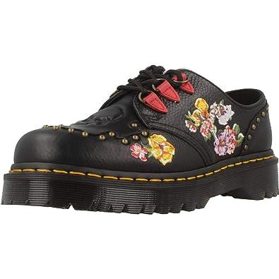 schnell verkaufend Größe 40 neue Fotos Dr. Martens Women's Serova Aunt Sally Embroidered Leather Lace Up Shoe Black