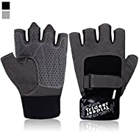 Trideer Ultralight Weight Lifting Gym Gloves, Light Microfiber & Anti-Slip Silica Gel Grip Glove for Workout, Training, Fitness, Bodybuilding and Exercise Men & Women