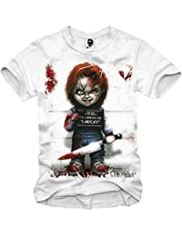 T-SHIRT CHUCKY GHOSTBUSTERS CRITTERS JAWS HALLOWEEN SCARFACE EVIL XS-XXL