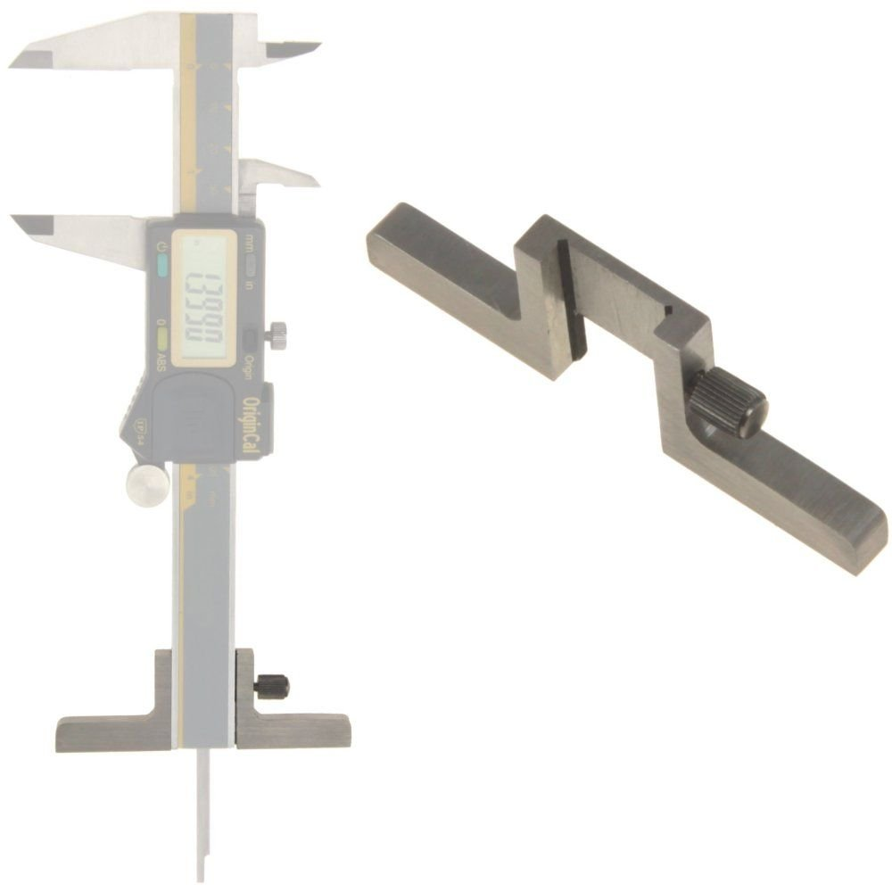 iGaging 100-D68 Caliper Depth Base T-Bar Attachment for Dial/Digital/Vernier Calipers, 4'', 6'', 8'', 12''