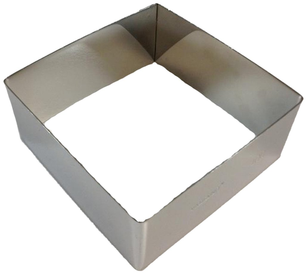 Paderno World Cuisine Stainless Steel 8-5/8-Inch Square Pastry Ring