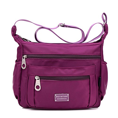 Soyater Nylon Crossbody Shoulder Bag, 9 Pockets
